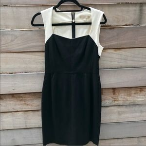 Banana Republic Black and White Cocktail Dress